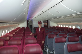 Qatar Airways Boeing 787 Dreamliner cabin