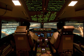 Etihad Airways Boeing 777-300ER Cockpit