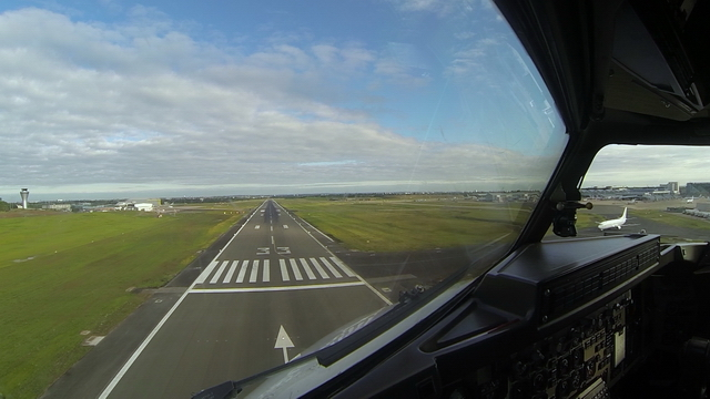 Video of Birmingham Airport landing