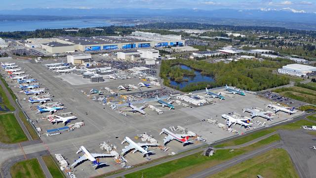 Video of Everett, Boeing Field & Renton from above