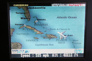 LiveTV screen showing the inflight map. The TV service provides 24 cha...