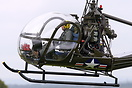 Built in 1956 this Hiller UH-12C was the very first helicopter flown b...