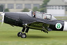 The Classic Flight Chipmunk G-APLO arriving at the GVFWE at Cotswold A...