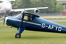 Luscombe 8F Silvaire G-AFYD built in 1939 arrives at the 2010 Great Vi...