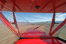 A view of the Omarama area during a pleasure flight in this Ag-Cat bip...
