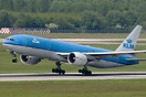 A diverted KLM Boeing 777 seen departing Dusseldorf after it was force...