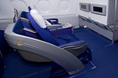 Business class seat in the Lufthansa Airbus A380.