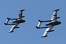 A pair of de Havilland DH112 Venom aircraft in close formation at the ...