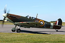 This Spitfire MK.1A Spitfire G-AIST was manufactured by Westland Aircr...