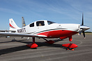 Cessna 400 Corvalis TT displayed at AeroExpo UK.