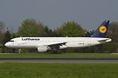 "Lufthansa's ""Cottbus"" on its way to runway 15."