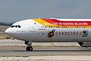 Iberia have applied special Football World Cup Champions stickers to t...