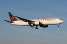 Air Canada Boeing 767-300 in old colors approaching Santiago.