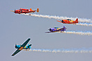 "The Squadron ""OI"" performs at air shows in Brazil with T-6, Beechcraft..."
