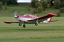 Piper PA-24-260 Comanche C N500AV departing the 2010 Vintage Piper Fly...