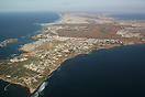 Overview of the Dakar airport area with on the left the Isle of Ngor, ...