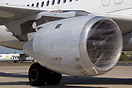 Aircraft engines wrapped in cling film to protect agains ash from the ...