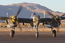 This Lockheed P-38J Lightning NX138AM was a visitor to Reno Air Races ...