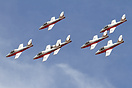 The Snowbirds Demonstration Team performing at Reno Air Races 2010