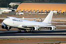El Al's first Boeing 747-400 freighter touching down on runway 30 from...
