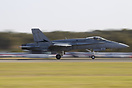 The RAAF demo F18 piloted by Akko blasts away from runway 30 at Willia...