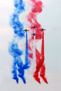 Special graffiti of Patrouille de France for russian cloudy sky