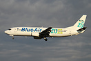 This Blue Air Boeing 737-400 YR-BAE is now advertising a Romanian radi...