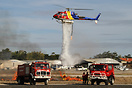 Fire fighting demonstration on Helitech 2010.