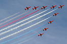 The Red Arrows at this years Waddington International Airshow 2005