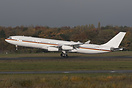 On take-off for a testflight, using its old Lufthansa registration D-A...
