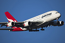 On final to runway 34 at Melbourne a Qantas A380.