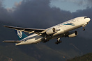 Air New Zealand Boeing 777-200 departing off 25L on one of the years b...