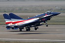 Pair of Chengdu J-10AY aircraft departing for a training flight for Ai...