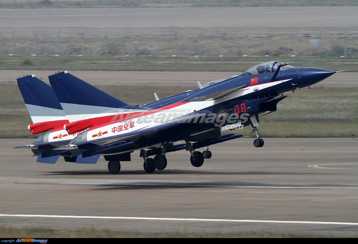 Pair of Chengdu J-10AY aircraft departing for a training flight for ...