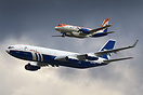 Ilyushins Il-96 and Il-114 during flight demo at MAKS '2009