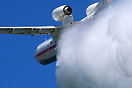 Be-200ChS is dumping 12 tons of water during flight demo