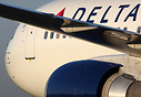 Delta Air Lines Boeing 767-300 taxiing to the terminal shortly after l...