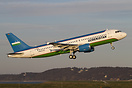 First Airbus A320 for Uzbekistan Government, here on departure for a c...