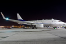 This Boeing BBJ is displaying the new colours for Royal Jet at MEBA 20...