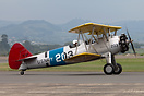 Boeing Stearman PT-13D Kaydet ZK-XAF taxi back to Classic Flyers Museu...