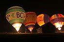 Night glow at the International Balloon Festival 2011 in Chateau D'Oex