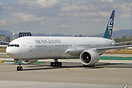 Newly delivered Air New Zealand Boeing 777-300ER ZK-OKN arriving at Lo...