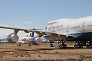 British Airways B747-400 G-BNLG currently withdrawn from use and in st...
