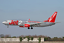 Jet2's first Boeing 737-800 recently entered service - seen here landi...