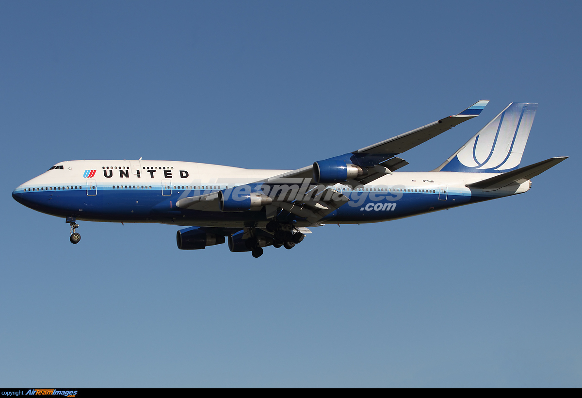 ... boeing 747 400 n174ua los angeles airport view image information Airport