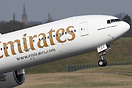 Emirates Boeing 777-300ER A6-ECY departing from Birmingham bound for D...
