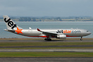 Flight 3K402 takes off on rwy 23L for first service Auckland - Singapo...