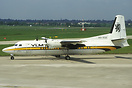 Fokker 50 OO-VLE operating for VLM but seen here in a basic Busy Bee s...