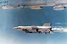 The X-15 set speed and altitude records reaching the edge of outer spa...