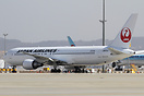 This Boeing 767-300ER JA613J is the first aircraft to be painted in th...